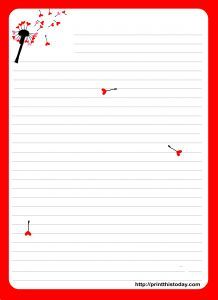 {free} Printable Love Letter stationery with Dandelion: