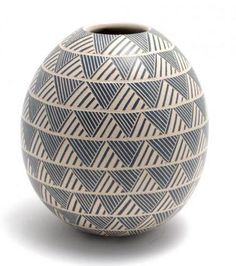 Egg-Shaped Pottery Jar - World Folk Art - Find Stained Gourds, Metal Wall Hangings, and more