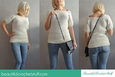 I love the stitch pattern on this free crochet sweater pattern. White Crochet Sweater - Media - Crochet Me