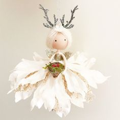 Christmas Ornament Crafts, Christmas Fairy, Christmas Deco, Holiday Crafts, Fairy Crafts, Angel Crafts, Doll Crafts, Fairy Lanterns, Michaels Craft