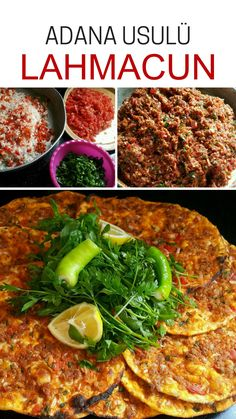 Adana Style Lahmacun recipe - food and drink Turkish Recipes, Ethnic Recipes, Most Delicious Recipe, Best Appetizers, Canapes, Food Hacks, Food Art, Dinner Recipes, Drink Recipes