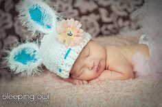 Baby Easter photo prop. Baby Bunny Rabbit Hat Size Newborn 3m 6m Girls by NitaMaesGarden, $34.95