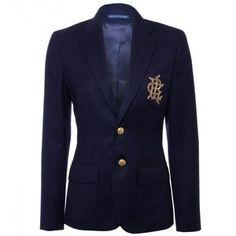 Ralph Lauren Navy Deerskin Greenwich Jacket