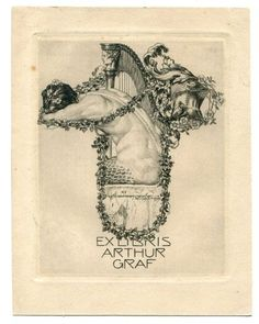 Bookplate of Alfred Cossmann. The Mermaid.