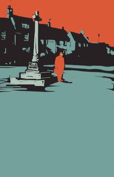 Matt Taylor illustration for John LeCarre reissues.