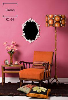 Diviértete contrastando los colores de tus paredes con los de tus muebles.