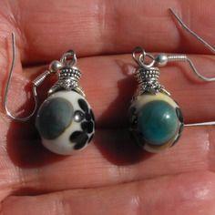 Bcl.2309 belles boucles d'oreille perles murano faites main