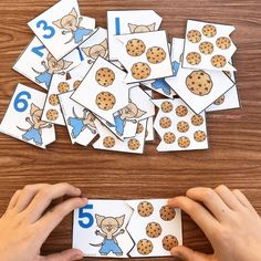 free printable cookie counting puzzles -If you give a mouse a cookie cookiemath counting kindergarten preschool bookactivity 233624299406301270 Preschool Books, Free Preschool, Preschool Printables, Preschool Classroom, Preschool Learning, Kindergarten Math, Preschool Activities, Teaching, Toddler Preschool