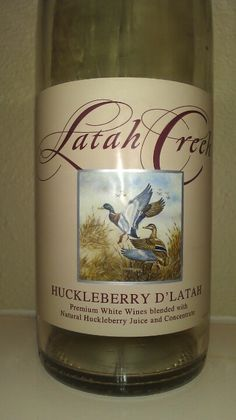 Latah Creek Wine Cellars - Huckleberry D'Latah Gift from my real estate agents. Not super sweet, but good. (the wine is made right here in Spokane, WA - Sue)
