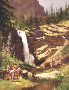 Howard Terpning - Running Eagle Falls - This is one of more than works of art offered by ArtUSA, The World's Source for Collectible Art. Toll-free or Native American Paintings, Native American Wisdom, Native American Pictures, Indian Pictures, Native American History, Howard Terpning, American Indian Art, American Indians, Indigenous Art