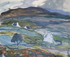 """Anne Redpath,""""Cottages""""--female artists of Scotland"""