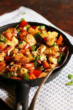 Paneer fry recipe with Indian spices and vegetables served as side dish in a cast iron skillet. Paneer Fry Recipe, Paneer Recipes, Indian Food Recipes, Real Food Recipes, Ethnic Recipes, Best Vegetable Recipes, Homemade Vegetable Soups, Delicious Vegan Recipes, Vegetarian Recipes