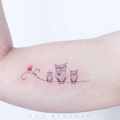 Resultado de imagem para tattoo coruja delicada traços