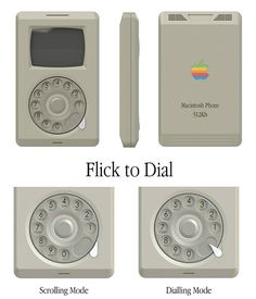 The Macintosh Phone Concept is exactly as it sounds! This novel device explores how Apple's flagship product might've looked and worked had it been released 20 years before the first iPhone. The concept revolves around a vintage-looking dial that can be used to scroll up/down the screen or used like a rotary phone. Practical for our reliance today? Probably not. But with this, you're sure to be the most dedicate fanboy hipster on the block. #Macintosh #Phone #Concept #Yankodesign