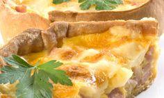 Receta de Quiche de queso y jamón cocido