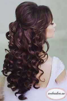 Half Up Half Down Bridal Hair - hair - Hochsteckfrisur Wedding Hairstyles Half Up Half Down, Wedding Hair Down, Wedding Hairstyles For Long Hair, Wedding Hair And Makeup, Bride Hairstyles, Wedding Bride, Winter Hairstyles, Hairstyle Ideas, Hairstyles 2016