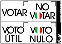 CARICATURISTA PACOTE: VOTAR O NO VOTAR
