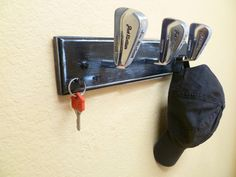 Vintage MacGregor Jack Nicklaus Golf Club Heads Coat Rack 3fb351e84ce8