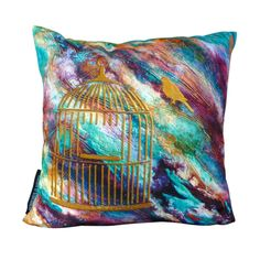'Freedom' Art Cushions | Throw Pillow - Unique original design from the 'Colours of Hope' range $49.95 at MagentaBlues on Etsy https://www.etsy.com/au/shop/MagentaBlues