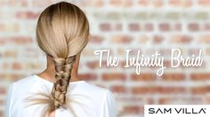 The Infinity Braid looks difficult but Sam Villa makes it easy to understand. Watch now and view our step by step photos. Cool Braids, Braids For Short Hair, Braids Step By Step, Infinity Braid, Hair Shows, French Braid, Hair Today, Braid Styles, Braided Hairstyles