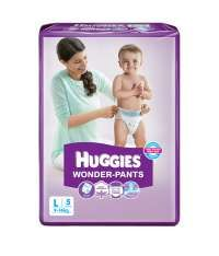 Huggies Wonder Pants Diapers (large) Pack Of 5 Rs.56(20%Off) At Snapdeal