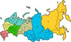 1. Central Russia (Central District) 2. Russian South (Southern District) 3. North West Russia (Northwestern District) 4. Russian Far East (Far Eastern District) 5. Siberia (Siberian District) 6. Urals (Urals District) 7. Volga (Volga District)