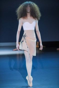 Hmmm...well this is Viktor & Rolf's 2014 Spring Collection...and unless it really is meant to be for ballet...I don't like anything about it.