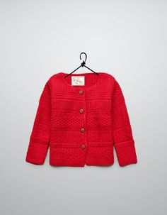 mix stitch cardigan