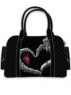 Stow your necessities in punk and Gothic purses and handbags from Inked Shop. Our selection includes alternative handbags, unique crossbody bags and more. Luxury Handbags, Purses And Handbags, Skull Purse, Heart Hands, Cute Purses, Cute Bags, Purse Wallet, Backpack Purse, Women's Accessories
