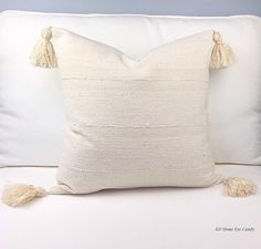 Off White Mud Cloth Pillow Cover, Tribal Pillow Cover, Bohemian Pillow, Mud Cloth, Cream Pillow Cover