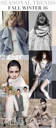 FASHION VIGNETTE: TRENDS // TREND COUNCIL - F/W 2016 . BIG EASY
