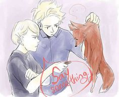 "Norway and Denmark trying to figure out ""What does the fox say"" :D <----Norway : SAY SOMETHING I'M GIVING UP ON YOU"