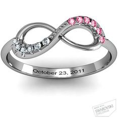 The ring i want my boyfriend to get me; both our birthstones and our anniversary date<3