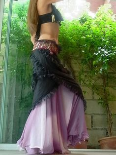 Gypsy Lace Wrap Skirt / Gathered Hip by ZaharaHipRoses Gypsy Style, Boho Gypsy, My Style, Bohemian, Goa, Dress Skirt, Dress Up, Lace Wrap, Textiles