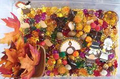 Thanksgiving sensory bin