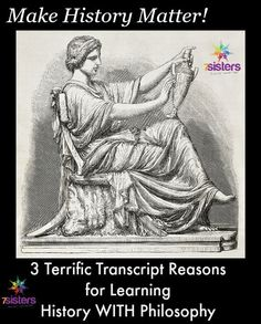 3 Terrific Transcript Reason to Learn World History WITH Philosophy from 7 Sisters Homeschool You are in the right place about World History infographic Here we offer you the most beautiful pictures a World History Classroom, World History Teaching, World History Lessons, History Teachers, Homeschool Transcripts, High School Curriculum, High School Years, Best Way To Study, High School Students
