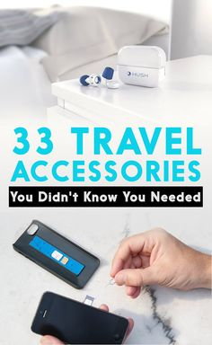 33 Genius Travel Accessories You Didn't Know You Needed (Travel Gadgets) Travel Info, Packing Tips For Travel, Travel Advice, Travel Essentials, Time Travel, Packing Hacks, Travel Gadgets, Travel Hacks, Fun Gadgets
