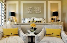 Black & yellow master bedroom...