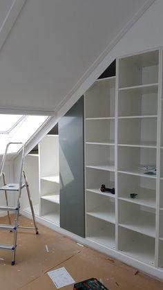 Loft Conversion Bedroom, Home, Angled Bedroom, Built In Wardrobe, House, Loft Room, Build A Closet, Ikea, Sloped Ceiling Bedroom