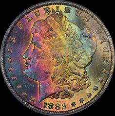 1882-CC Morgan Dollar MS64+ PCGS