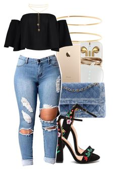 """Untitled #955"" by trinsowavy ❤ liked on Polyvore featuring Chanel, Brooks Brothers and Boohoo"