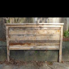 Recycled wood headboard!