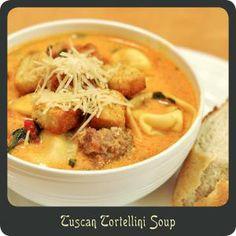 filling creamy soup, tortellini soup