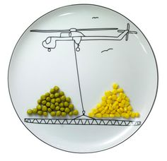 We  love Boguslaw Sliwinski's plate...makes vegetables fun too- now lets hope they get eaten