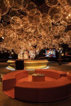 Gallery of Coca-Cola Pavilion / Atelier Marko Brajovic - 10 Coca Cola, Deco Ballon, Nightclub Design, Interactive Walls, Red Colour Palette, Ceiling Murals, Ceiling Design, Beautiful Interiors, Event Decor