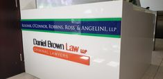 Custom logos painted to match the colours with full colour printed vinyl for Law Offices. 3d Logo, Offices, Toronto, Law, Colours, Printed, Signs, Painting, Novelty Signs