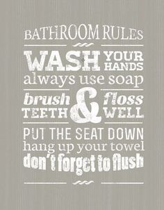 Bathroom Rules for sale at Walmart Canada. Buy Home & Pets online for less at Walmart.ca