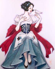 Snow White and the white dove Disney Fan Art, Disney Love, Disney Magic, Snow White Art, Snow White Disney, Princess Art, Aladdin Princess, Sailor Princess, Disney Pictures