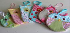 Adorable small owl purses for little girls. Sewing Hacks, Sewing Tutorials, Sewing Crafts, Sewing Projects, Owl Crafts, Cute Crafts, Owl Purse, Owl Bags, Sewing For Kids