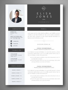 If you like this design. Check others on my CV template board :) Thanks for sharing! Cv Design, Resume Design, Cv Template, Resume Templates, Conception Cv, Modelo Curriculum, Curiculum Vitae, Word Cv, Cv Curriculum Vitae